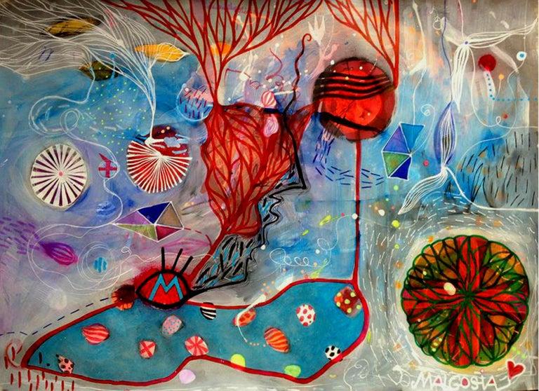 Kites Over Big Water - Mixed Media Art by Malgosia Kiernozycka