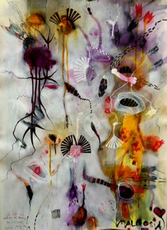 November Blues Flowery Windswept Hair