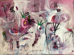 Lili Ocean Part 1 Pink Abstract On Paper