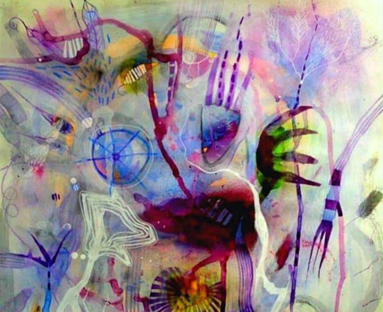 Some Cold Land Mixed Media on Paper For Sale 1