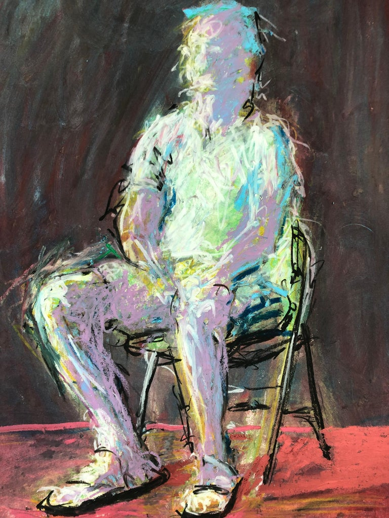 Man In The Chair - Painting by Rafael Saldarriaga