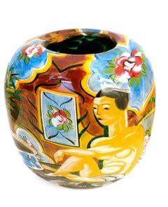Matisse Style Art Glass Vase