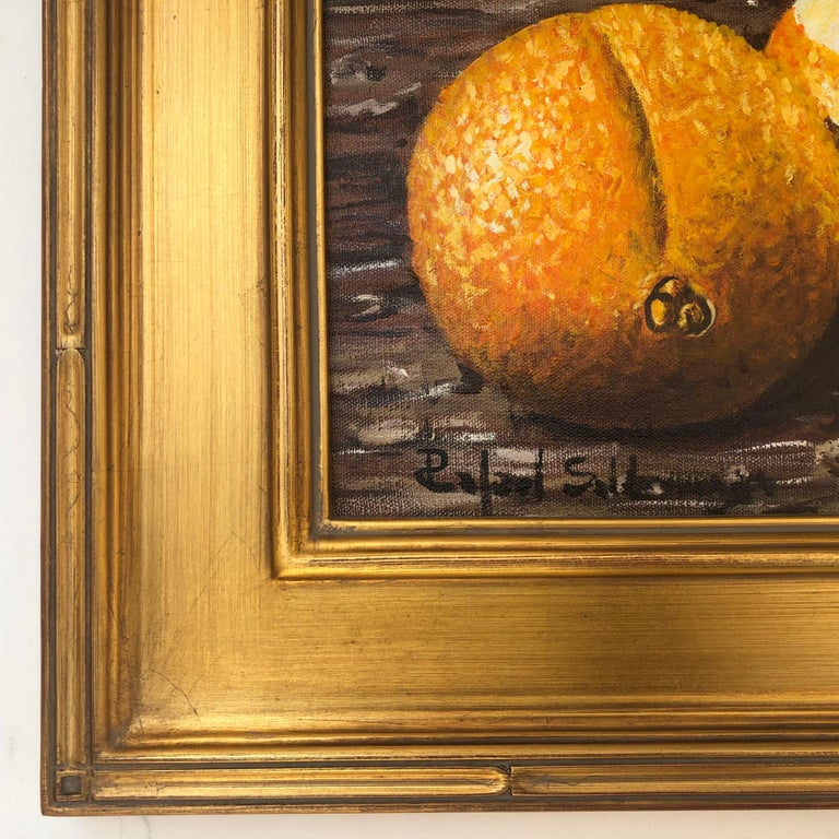 Still Life with Oranges - Expressionist Painting by Rafael Saldarriaga