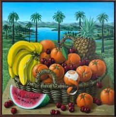 Fruit Basket In The Landscape