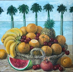 Still Life With Tropical Fruit In The Basket