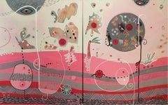 Pink Morning Diptych