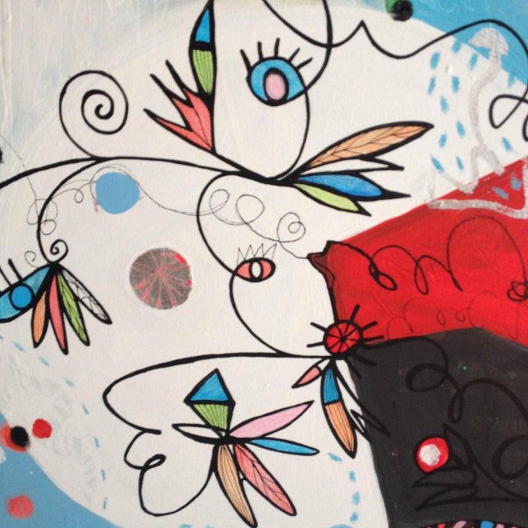 TURQUOISE A SHY MORNING  - Painting by Malgosia Kiernozycka
