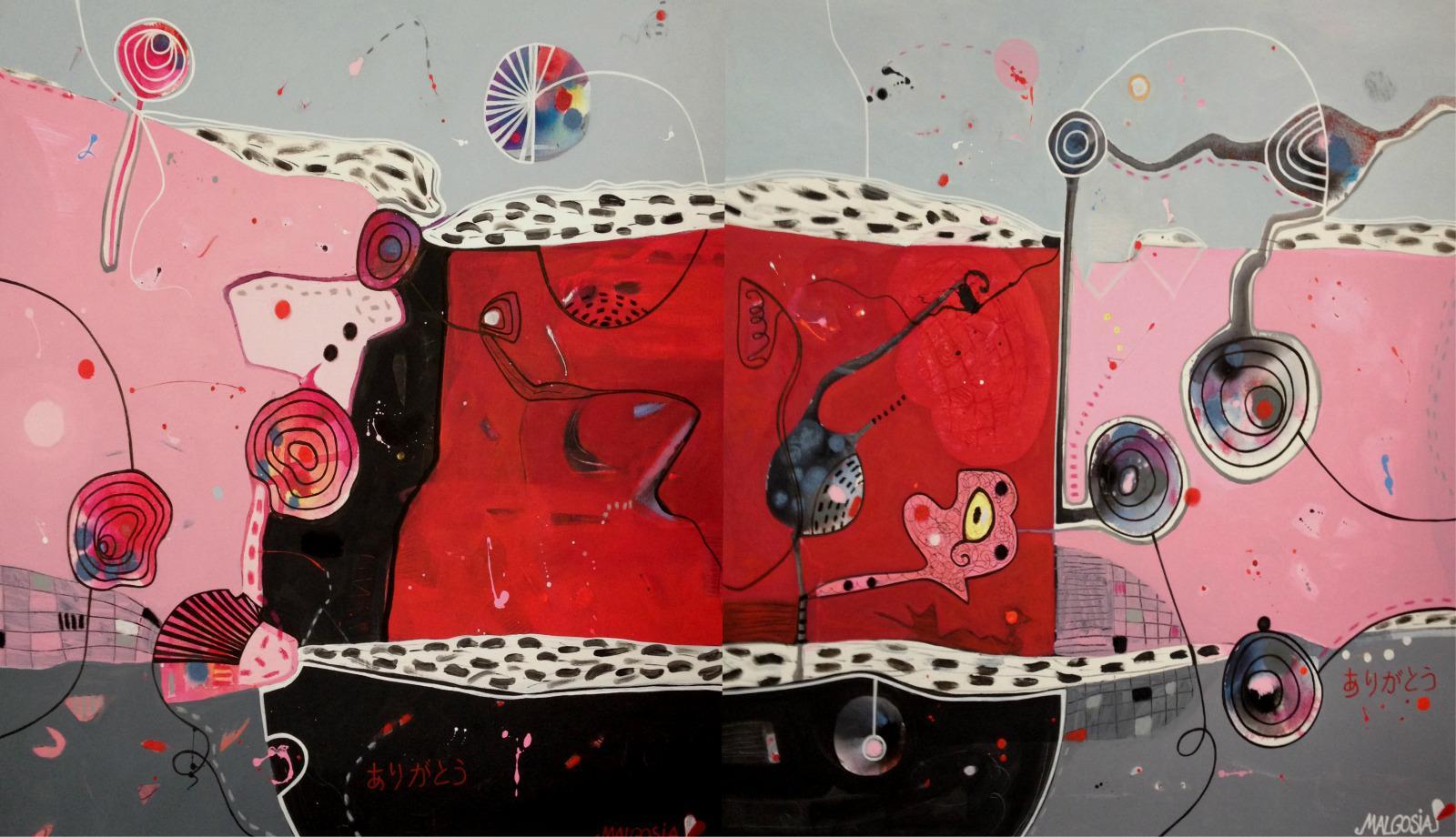 Arigato Diptych Acrylic on Canvas