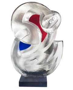 Glass Figurative Abstract Sculpture