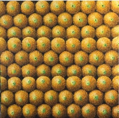 Wall Of Oranges Contemporary