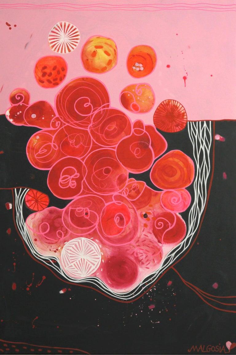 Blood Love Diptych  - Painting by Malgosia Kiernozycka
