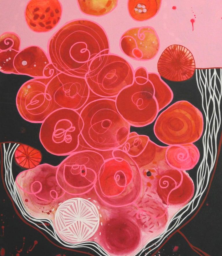 Blood Love Diptych  - Black Figurative Painting by Malgosia Kiernozycka