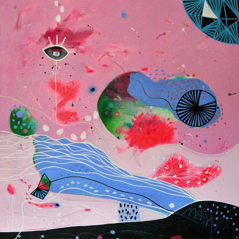 Hurricane Part I - Abstract Expressionist Painting by Malgosia Kiernozycka