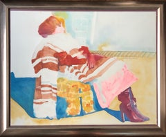 Woman In The Chair Watercolor