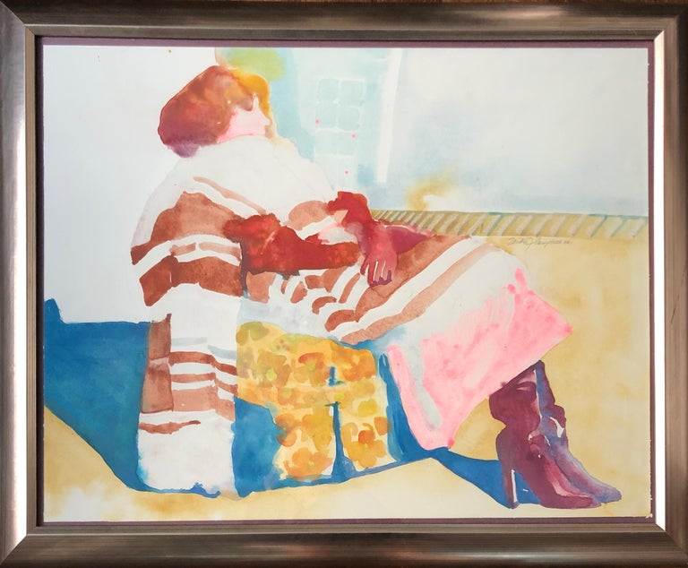 Sandra Jones Campbell Figurative Art - Woman In The Chair