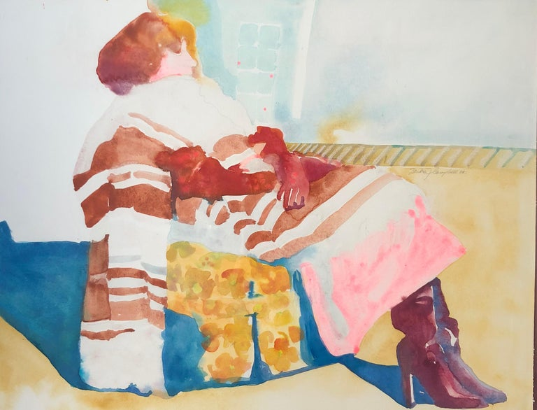 Woman In The Chair  - Art by Sandra Jones Campbell
