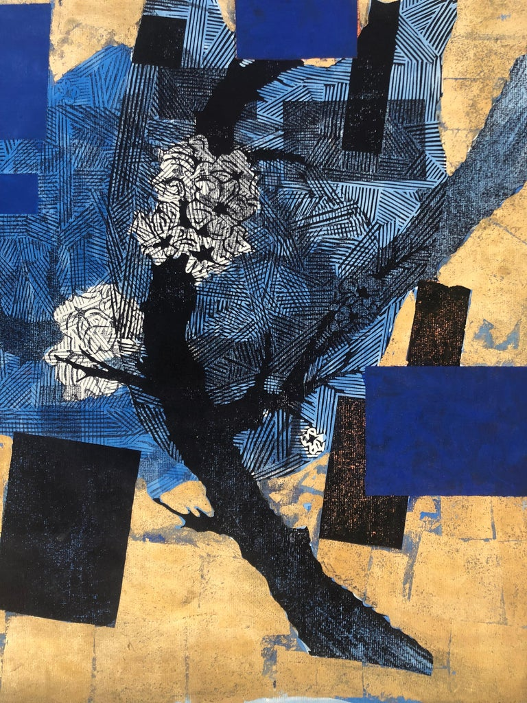 The Branches Keep Dancing Mixed Media - Abstract Expressionist Painting by Julien Gil Vega