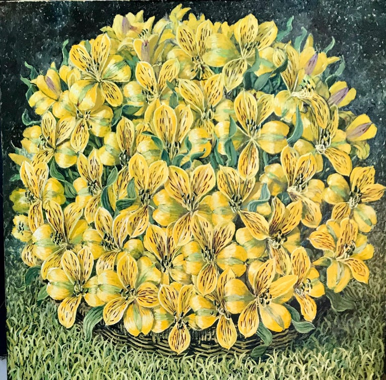 Rafael Saldarriaga Still-Life Painting - Alstroemeria Yellow Lilys