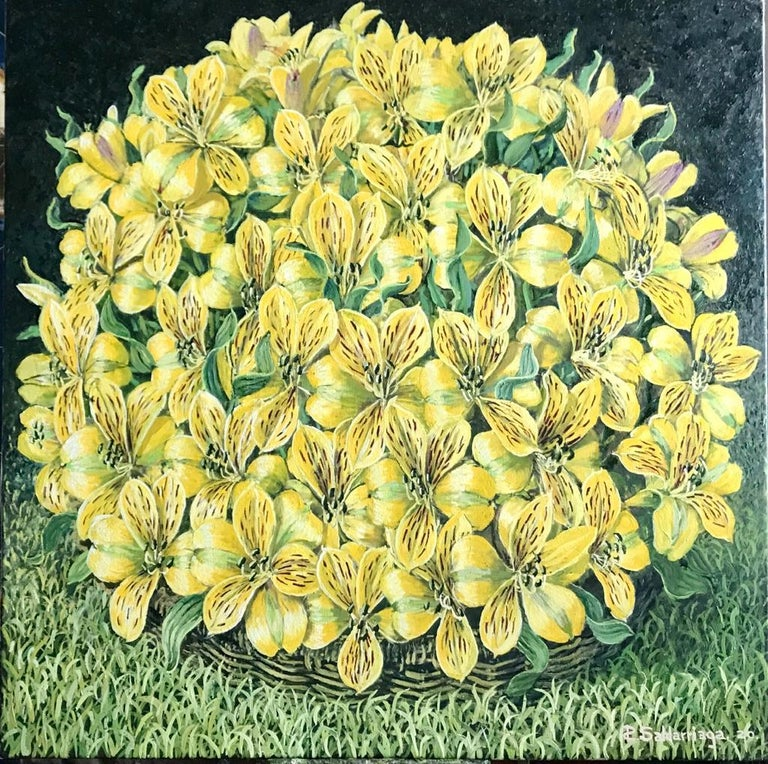Alstroemeria, 2020 RAFAEL SALDARRIAGA was born in Medellin, Colombia in 1955. Arrived in the United States in 1993. After living in New Mexico and Hawaii established his residency in New York City. He studied in Live de Zulateqi's Art Academy and