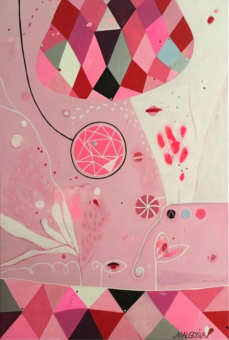 Malgosia Kiernozycka Abstract Painting - Balloon Parade