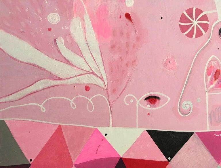 Balloon Parade - Abstract Expressionist Painting by Malgosia Kiernozycka