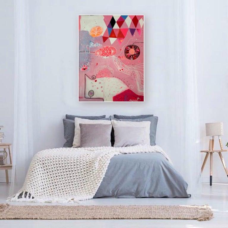 Queen Of Pink Night - Painting by Malgosia Kiernozycka