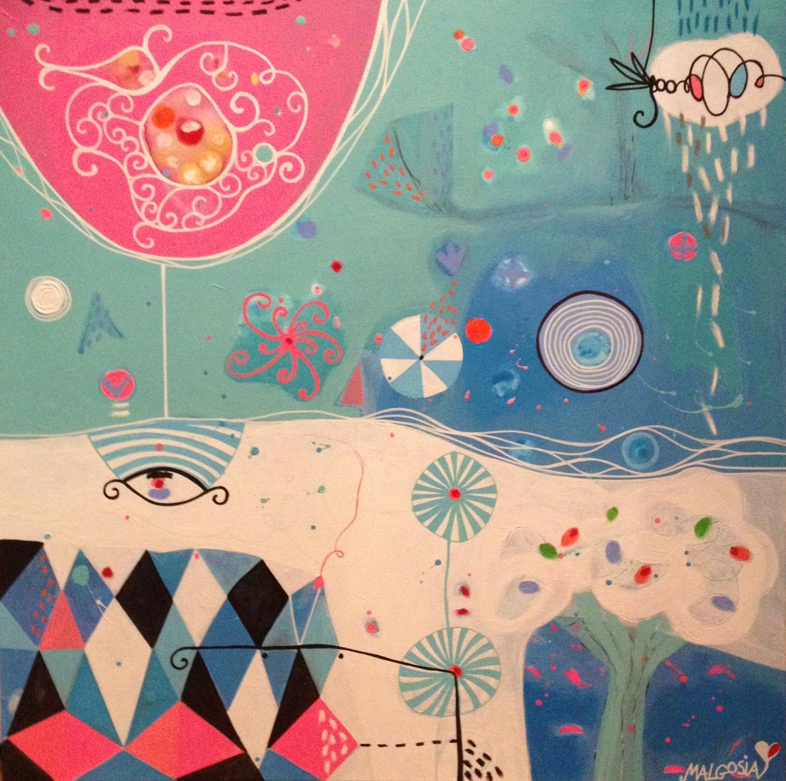 Bora Bora Figurative Abstract Painting