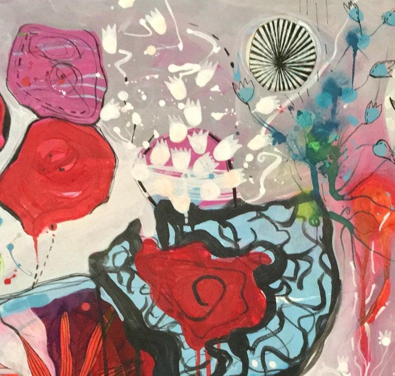 So Sorry  - Abstract Expressionist Painting by Malgosia Kiernozycka