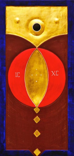 Sacred Abstraction On Wood Panel