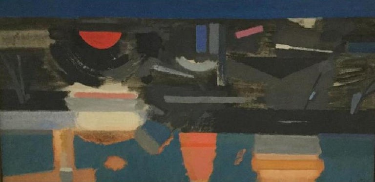 Howard Knotts Abstract Painting - Evening at the river