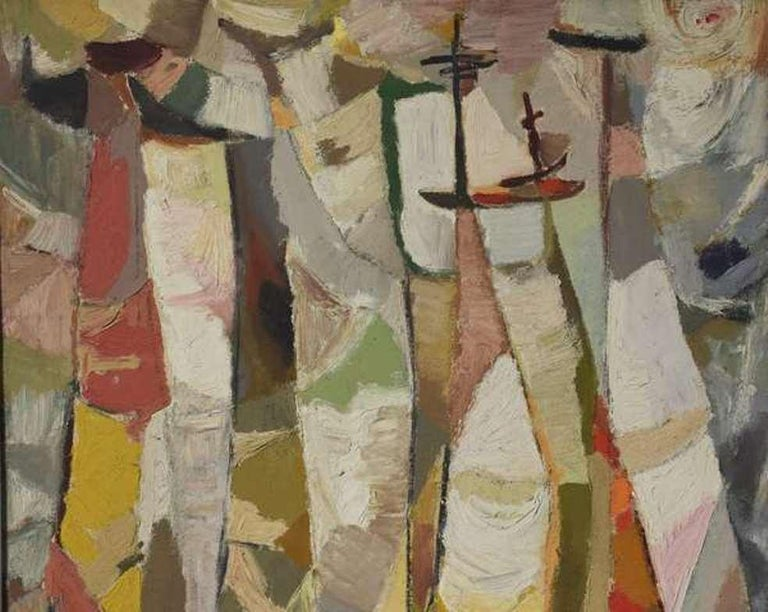 Cubist Composition - Painting by Almeida Egas