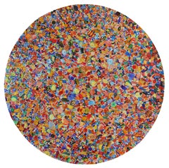 1987 Candies, Large, Circular Painting of Hundreds of Multicolored Candies