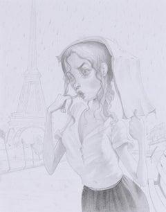 Wet in Paris (Study)