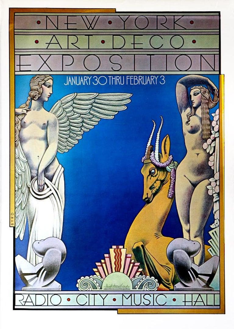 Radio City 1973 Art Deco Exposition, original Pencil drawing on Vellum For Sale 3