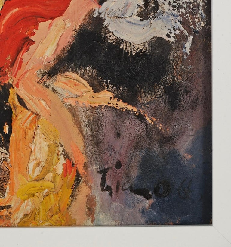 Anthony Thomas Triano (American 1928-1997) Abstract  1966 Oil on Board  Signed & Lower Right  30