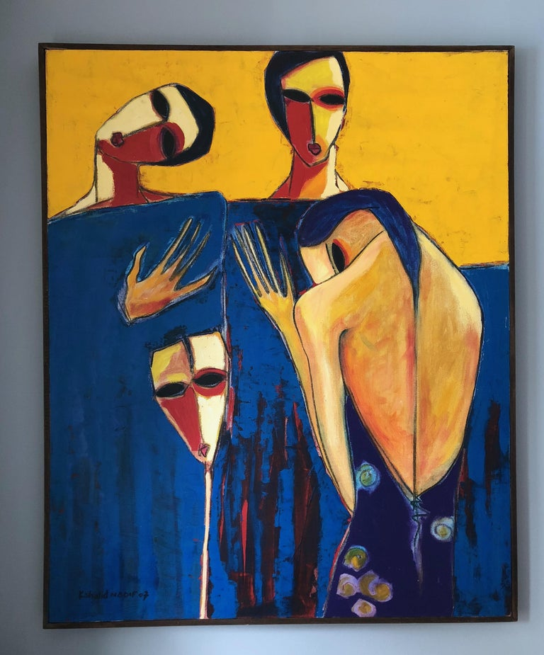 Untitled 2 - Painting by Khalid Nadif