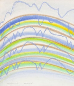 "KM Graham ""Dorset Lines in Blue"" Drawing"
