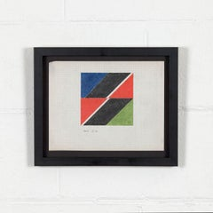 """Larry Zox """"Black Push"""" Drawing, 1965"""