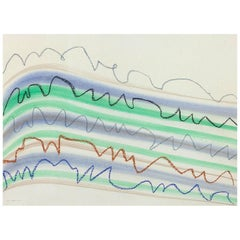 "KM Graham ""Mountains, Seas, and Cliffs"" Drawing, 1975"