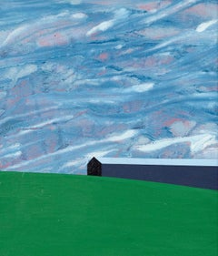 """Charles Pachter """"Oro Barn"""" Painting, 1999"""