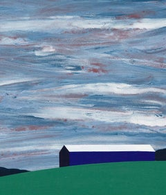 """Charles Pachter """"Oro Barn"""" Painting, 1998"""