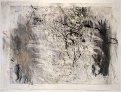 Olivebridge Drawing No. 1 (Gestural Charcoal Drawing floated in custom frame)