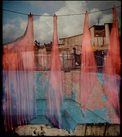 La Guarida (Framed Cibachrome Foto-Projection Collage of Clothes Line in Italy)