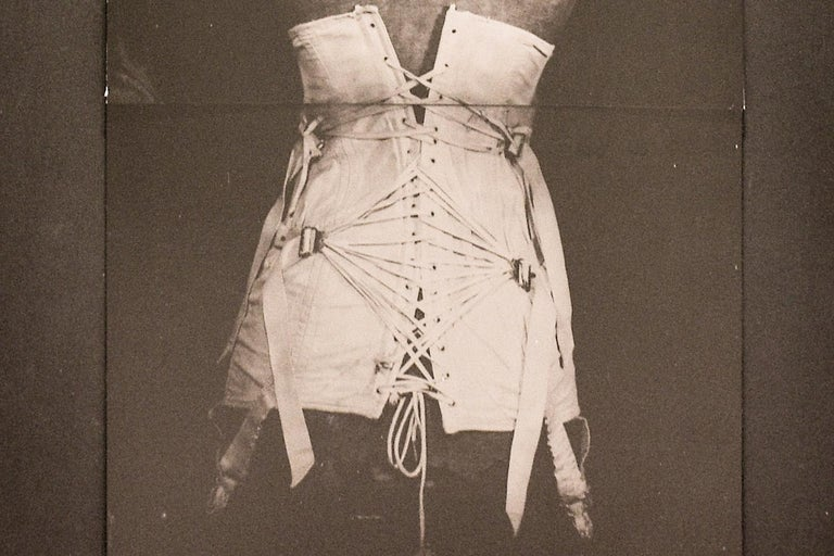 My Grandmother's Corset (Vintage Still Life Photograph of a White Corset) For Sale 3
