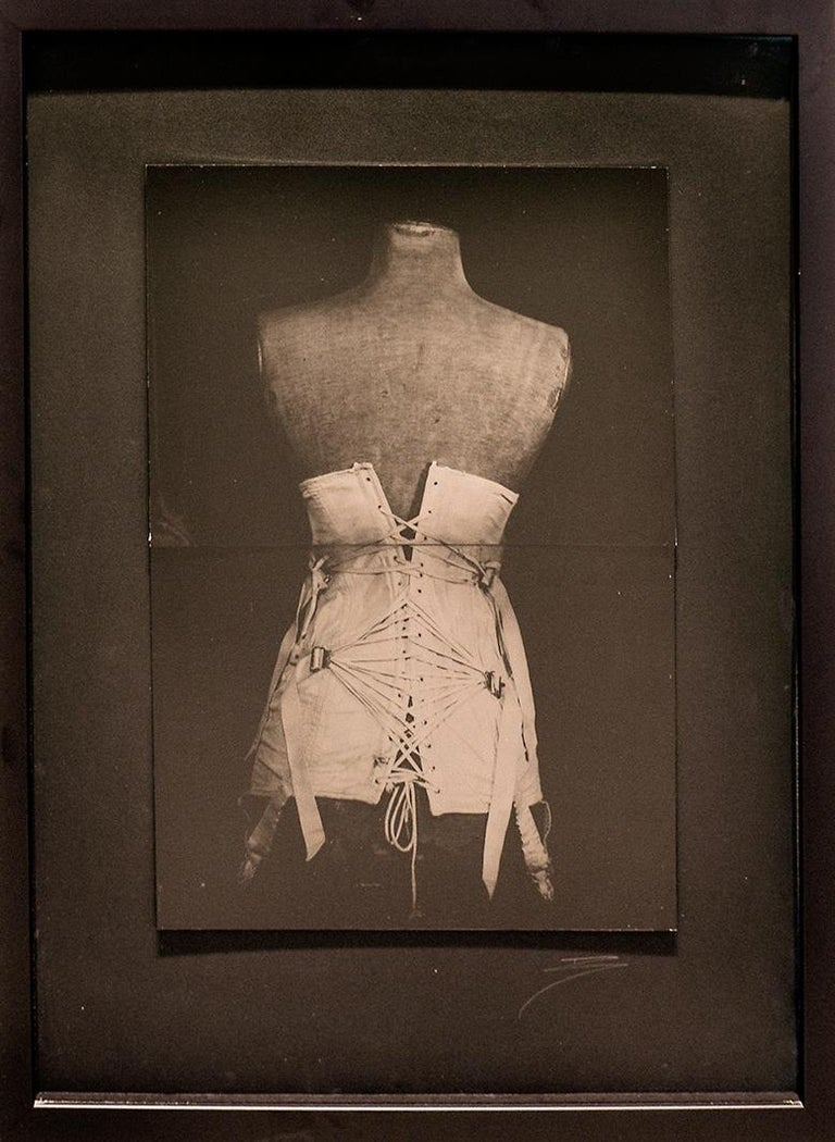 My Grandmother's Corset (Vintage Still Life Photograph of a White Corset) For Sale 1