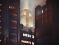 Empire (Cityscape Painting of New York City's Empire State Building at Night)