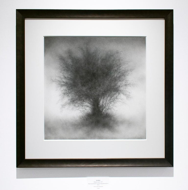 Whippersnapper (Realistic Charcoal Landscape Drawing on Panel of a Large Tree) For Sale 2