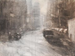 Light in the City (Abstracted Cityscape Watercolor Painting of NYC Street)
