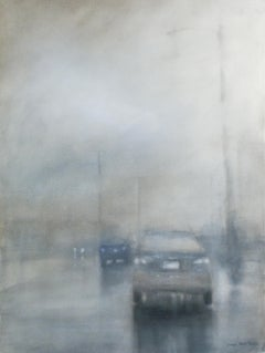 Slick (Abstracted Cityscape Watercolor Painting of NYC Street)