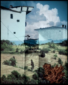 Via dei Solitari: Haytree (Framed Foto-Projection Collage of Southern Italy)